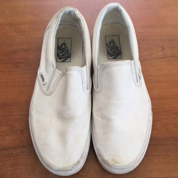 Vans Shoes | Slip On Vans White Womens